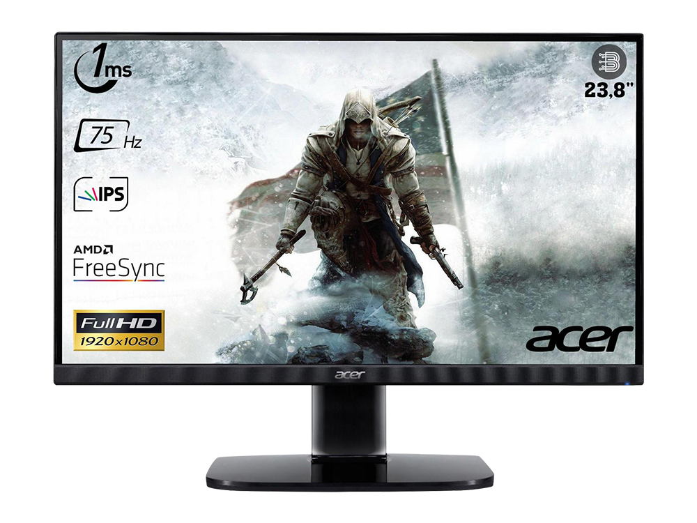 ACER KA242Y / 23,8 inç / 75 Hz / 1 ms / (HDMI+VGA) / Freesync / Full HD / IPS /Monitör / UM.QX2EE.005