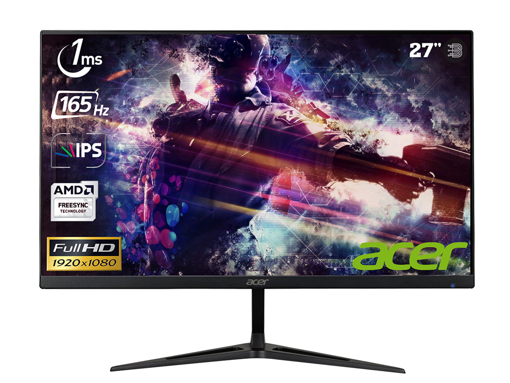 ACER NITRO RG271P / 27 inç / 165Hz / 1 ms / (2xHDMI+Display) / FreeSync / Full HD / IPS / MONİTÖR / UM.HR1EE.P01