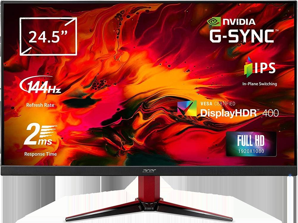 Acer Nitro VG252QPBMİİPX 24.5 inç 144Hz 2ms (HDMI+Display) G-Sync Full HD IPS Monitör