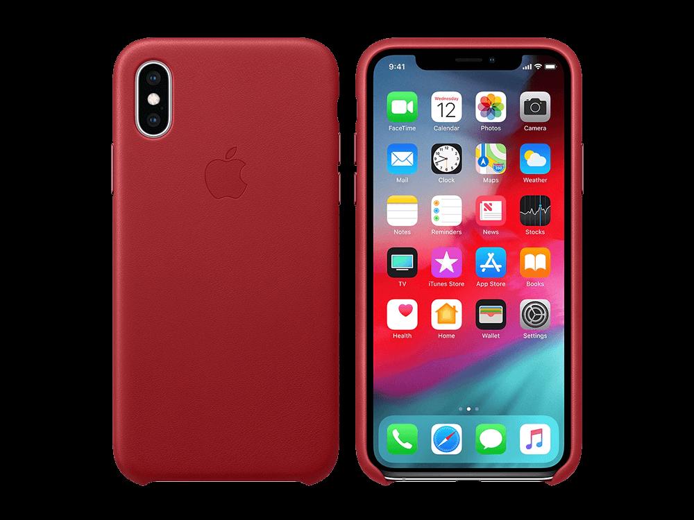 Apple iPhone Xs Deri Kılıf