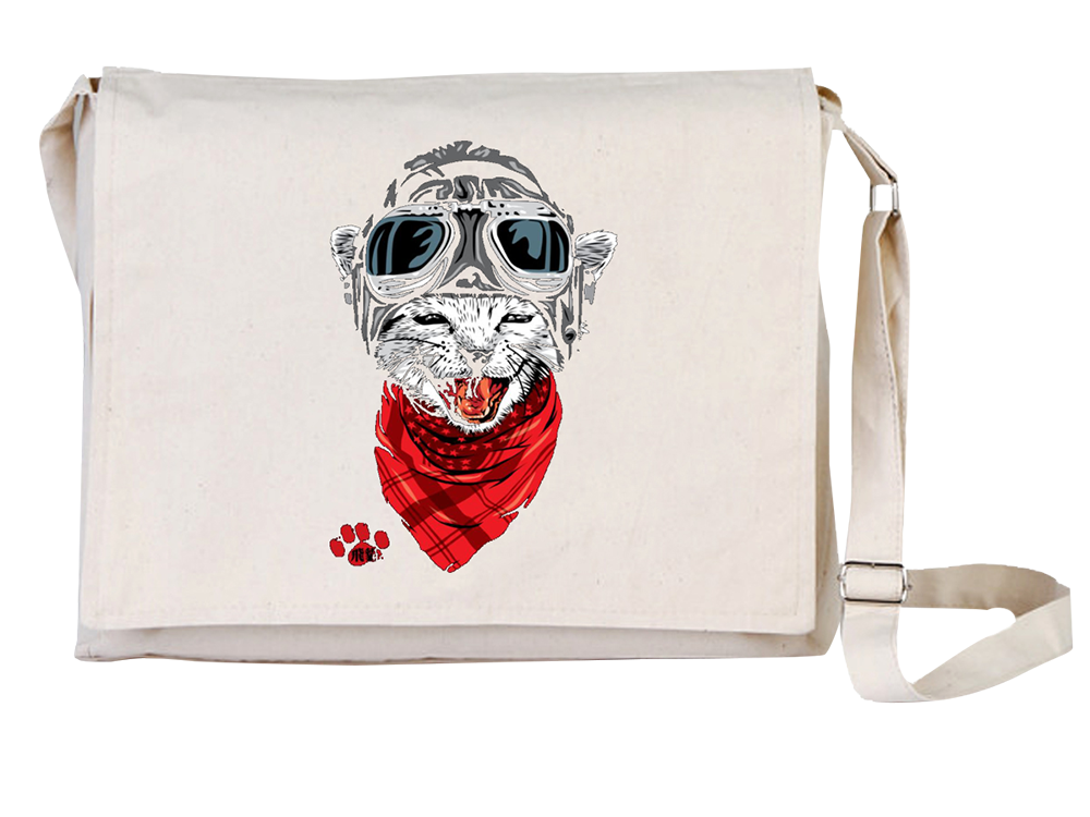 Arts Kedi Canvas Universal Tablet Laptop Çantası