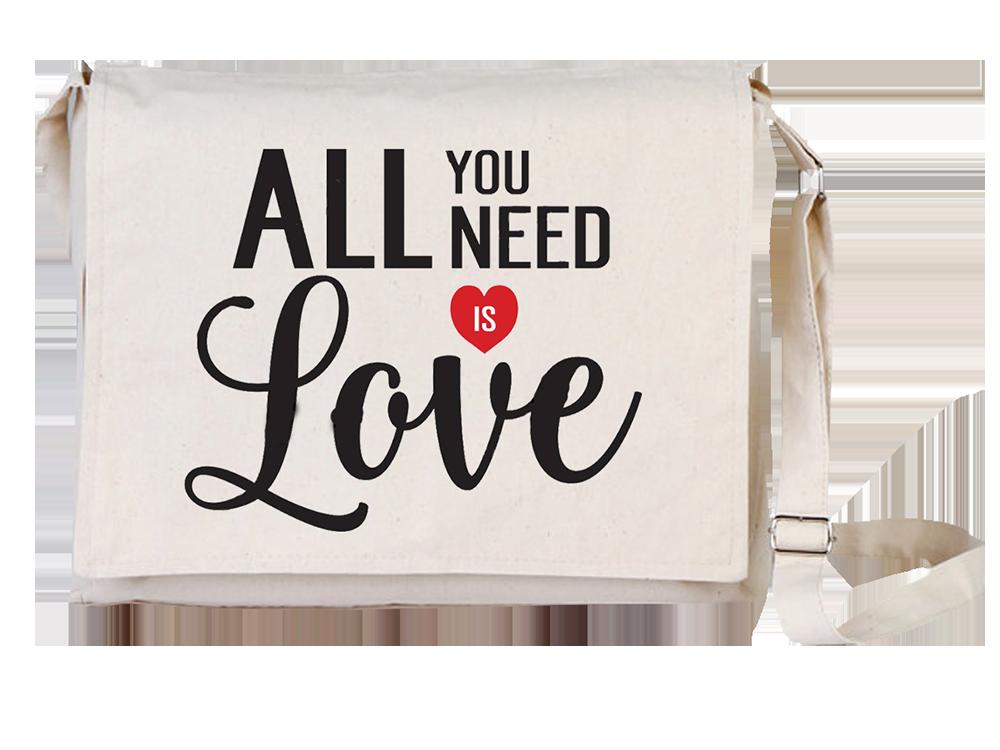 Arts Love Canvas Universal Tablet Laptop Çantası