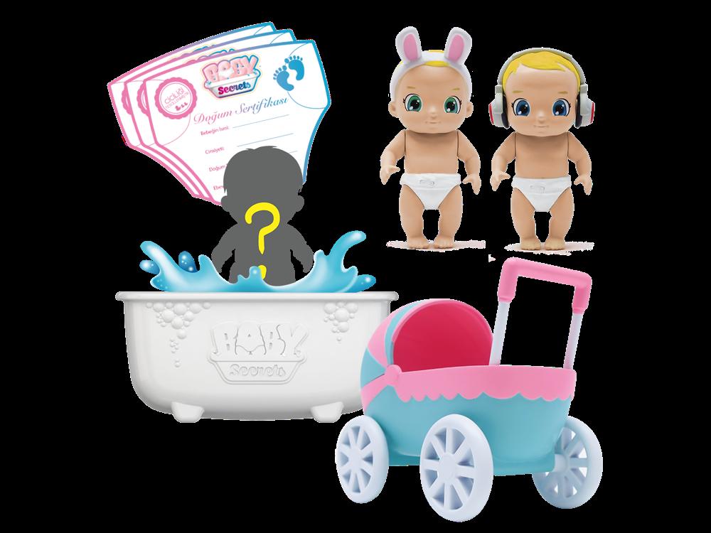 Baby Secrets Sürpriz Figür ve Bebek Arabası Seti 76923-4