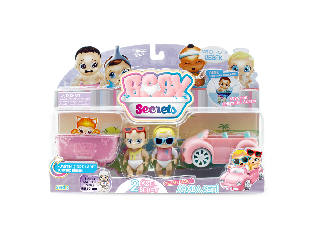 Baby Secrets Sürpriz Figür ve Araba Seti 77583-2