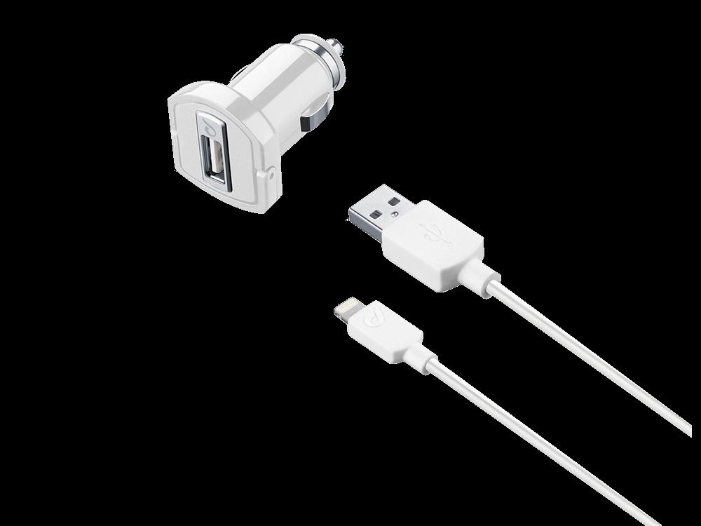 Cellularline 2A Type-C to Lightning Araç Şarj Cihazı