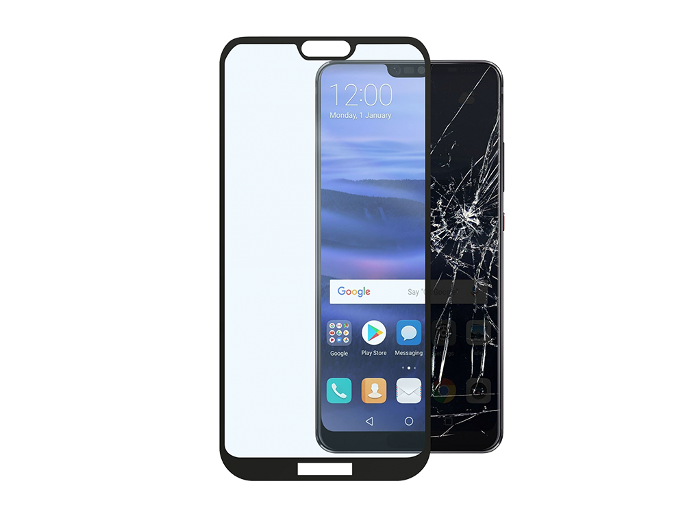 Cellularline Huawei P20 Lite Çerçeveli Cam Ekran Koruyucu