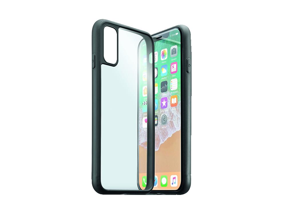 Cellularline iPhone X Çerceveli Sert Şeffaf Kılıf