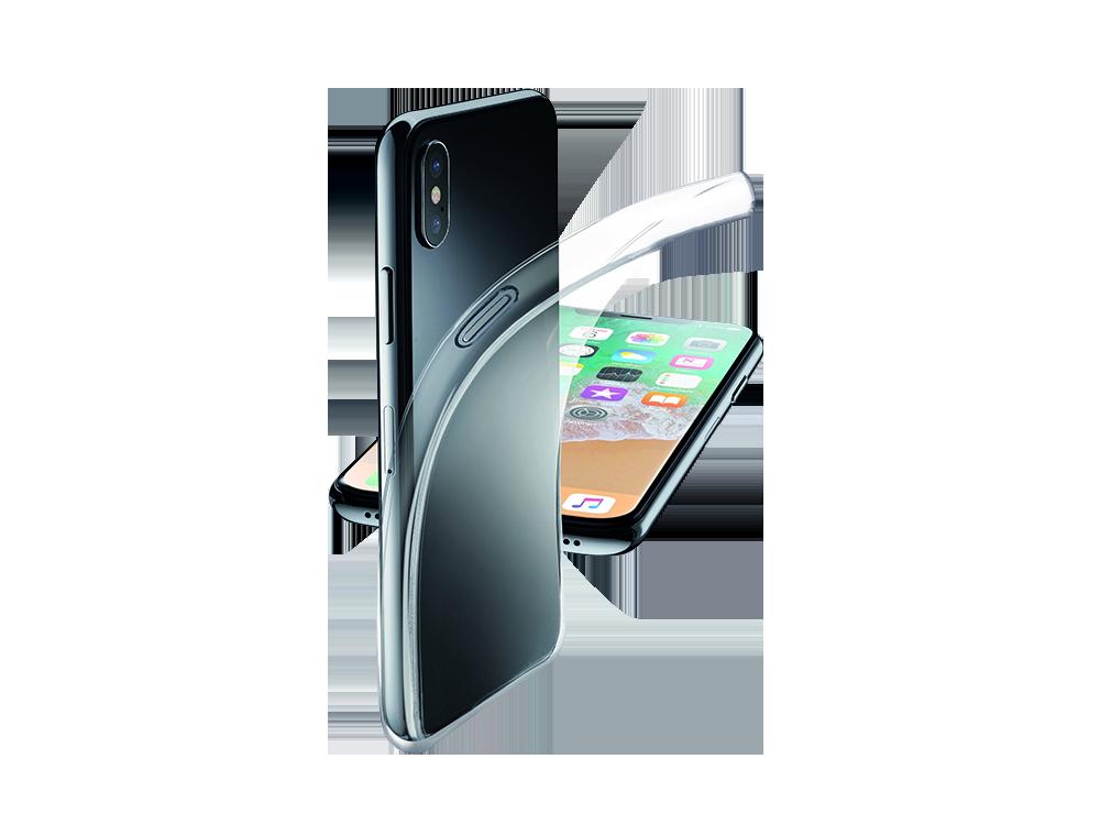 Cellularline iPhone X Parlak Kauçuk Şeffaf Kılıf