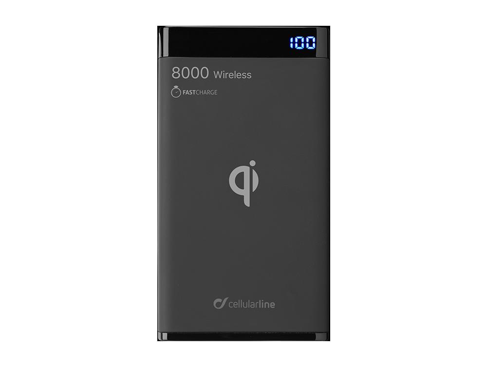 Cellularline Manta Kablosuz Taşınabilir Şarj Cihazı 8000 mAh