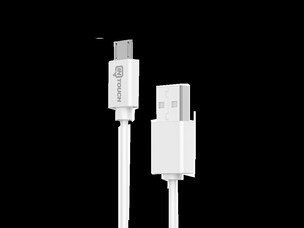 Intouch Micro USB Kablolu Hızlı Seyahat Şarj Cihazı 2 USB