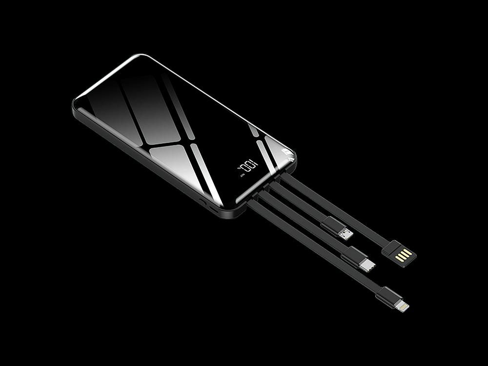 Intouch Prime Dijital Göstergeli Çoklu Kablolu Taşınabilir Şarj Cihazı 10000 mAh