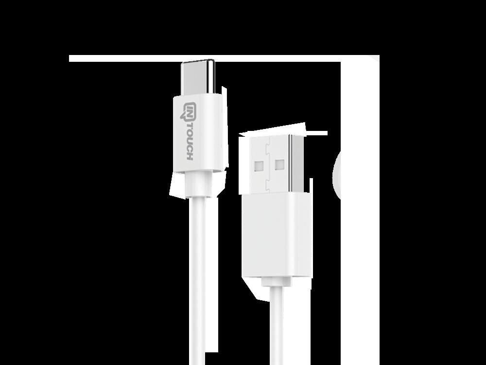 Intouch Type-C Kablolu Hızlı Seyahat Şarj Cihazı
