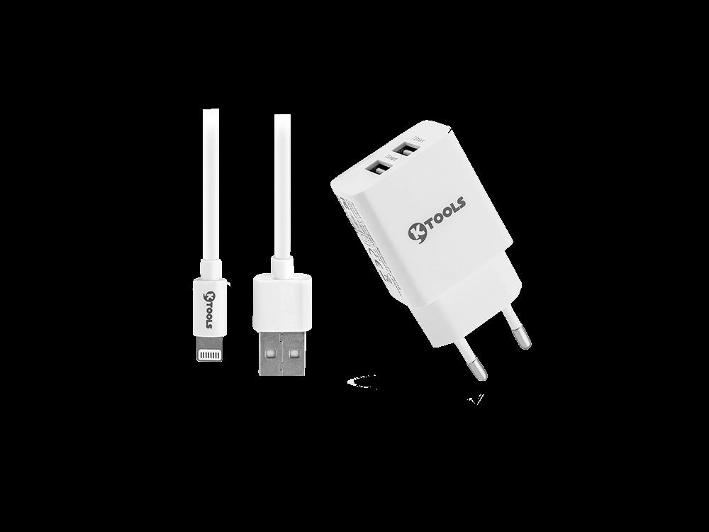 Ktools Life Çift USB Girişli Lightning Seyahat Cihazı