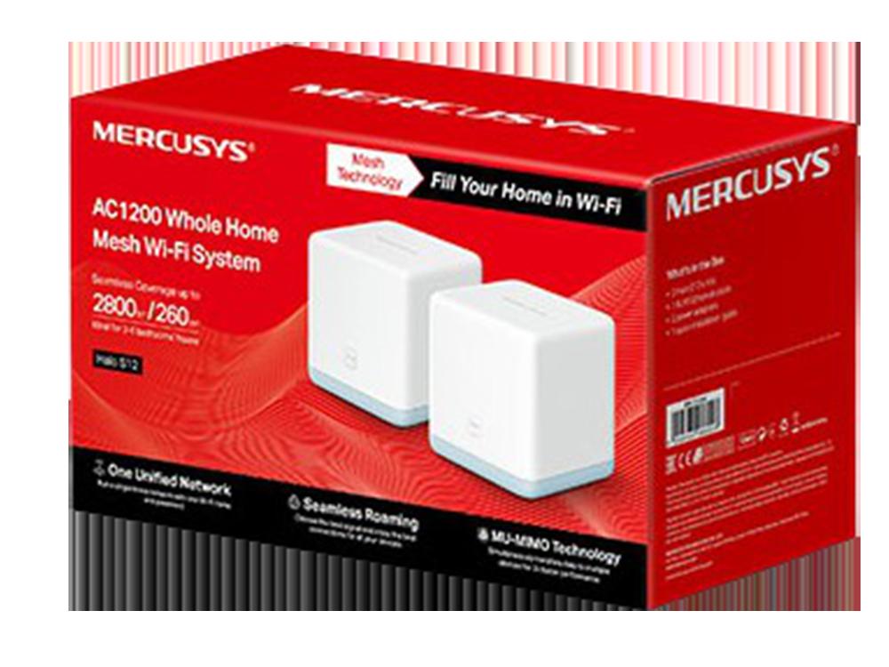 Mercusys Halo S12 (2-pack) AC 1200Mbps Tüm Evi Kapsayan Wi-Fi Mesh Sistemi