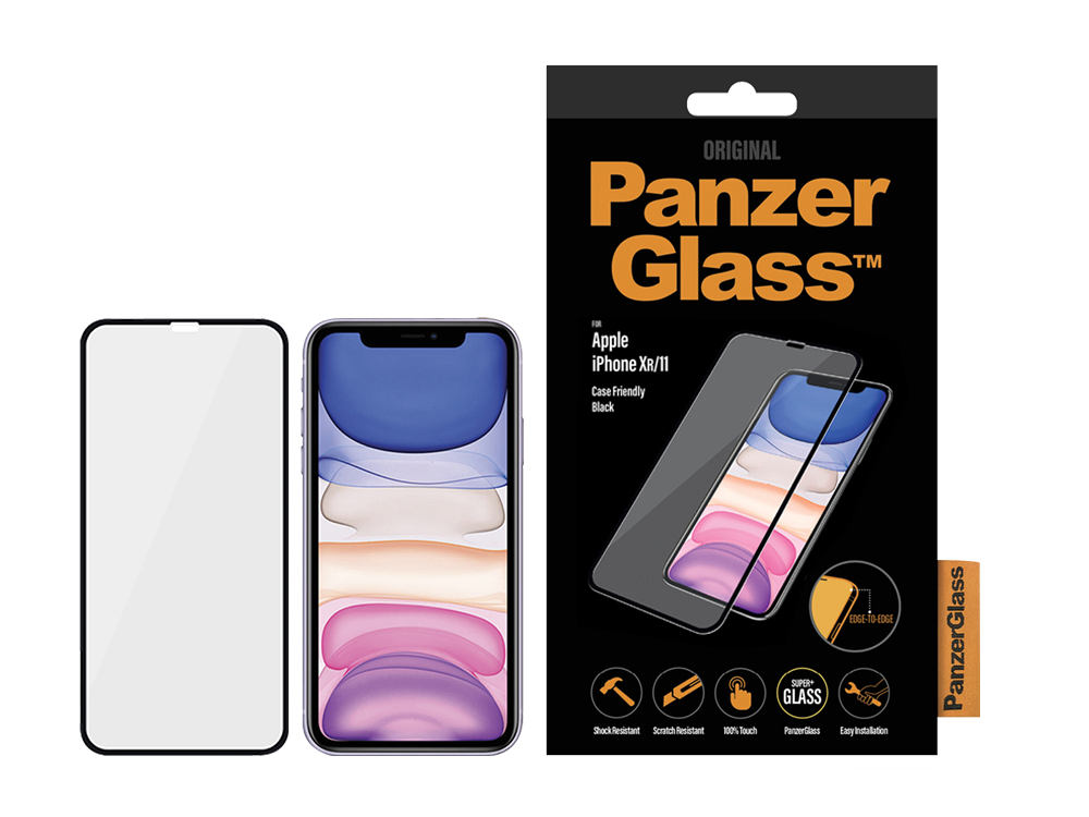 PanzerGlass iPhone XR/11 Çerçeveli Cam Ekran Koruyucu