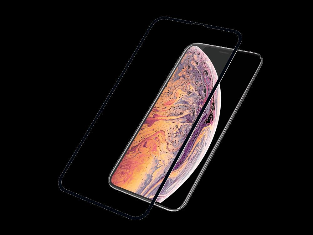 PanzerGlass iPhone Xs Max Siyah Çerçeveli Cam Ekran Koruyucu