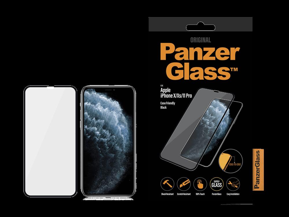 PanzerGlass iPhone X/Xs/11 Pro Çerçeveli Cam Ekran Koruyucu