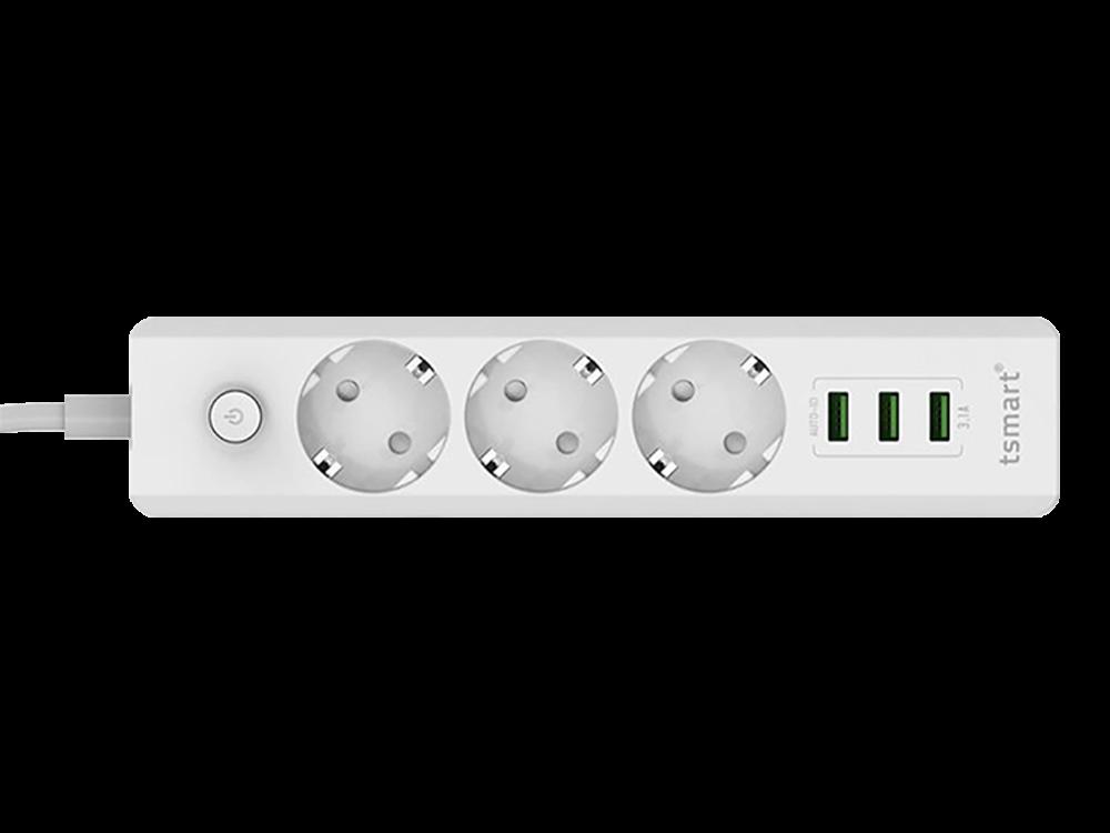 Tsmart 3 USB Çıkışlı Otomatik Akım Korumalı Akıllı Priz