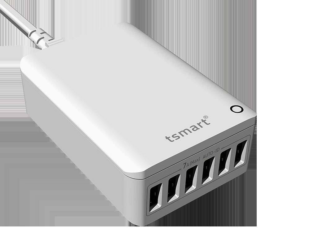 Tsmart 6 USB Çıkışlı Seyahat Şarj Cihazı 7 A