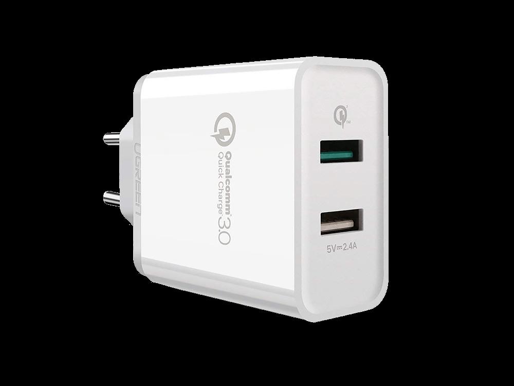 Ugreen Qualcomm 3.0 Çift USB Çıkışlı Hızlı Şarj Cihazı