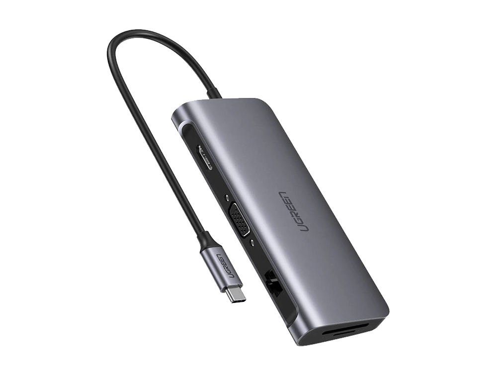 Ugreen Type-C HDMI VGA Ethernet USB Çoklayıcı Adaptör