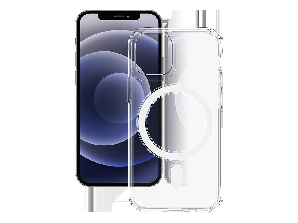 Bikapak Magsafe Air iPhone 12/12 Pro Şeffaf Koruyucu Kılıf