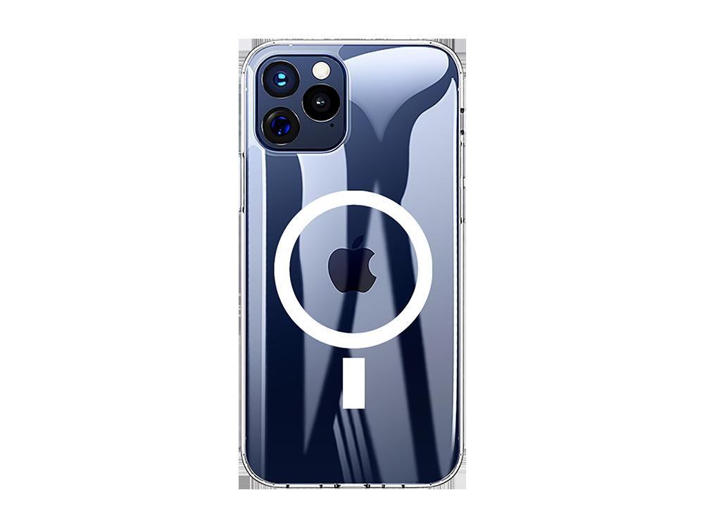 Bikapak Magsafe Air iPhone 12 Pro Max Şeffaf Koruyucu Kılıf