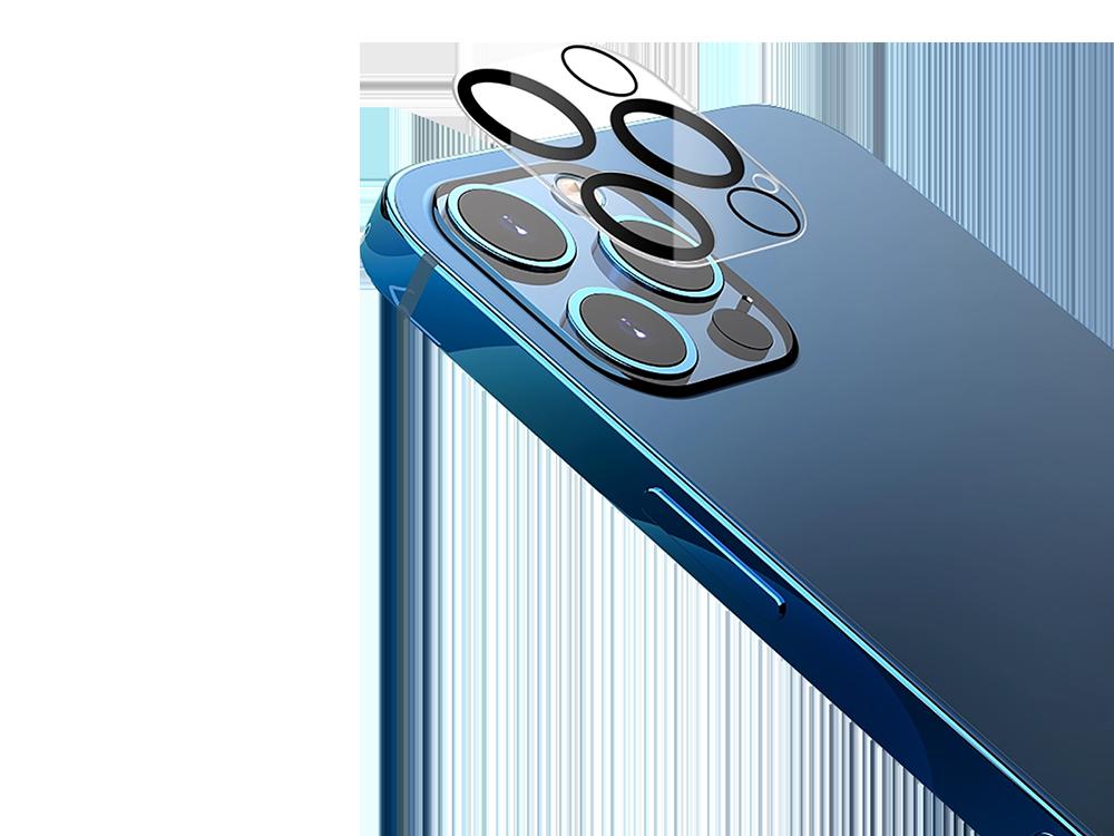 Binano 3D Anti-Exposure iPhone 12 Pro Max Kamera Koruyucu