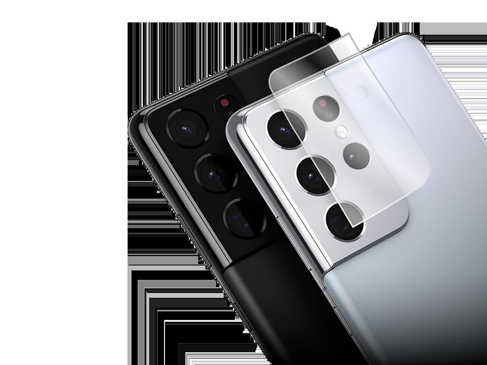 Binano 3D Anti-Exposure Samsung S21 Ultra Kamera Koruyucu