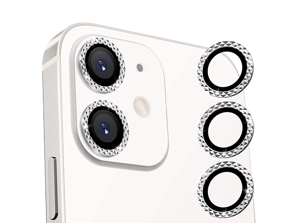 Binano Mini Metal Ring iPhone 11-12-12 Mini Lens Koruyucu 2'li Takım