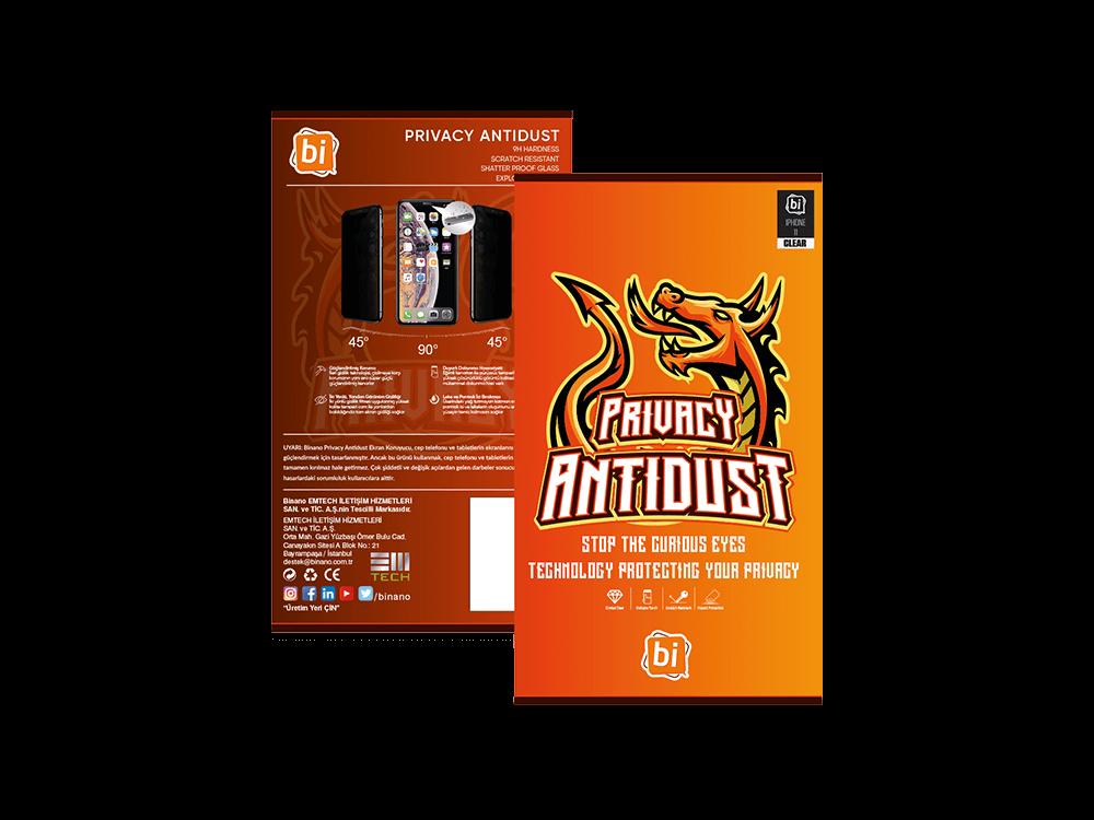 Binano Privacy Antidust iPhone 11 Pro Ekran Koruyucu