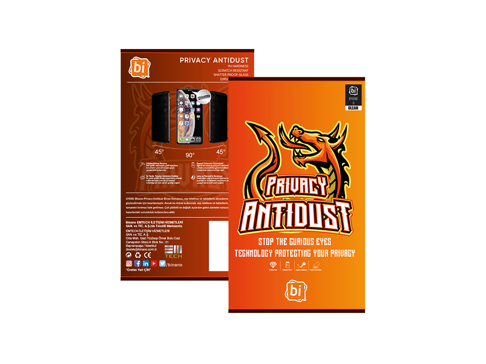 Binano Privacy Antidust iPhone 11 Pro Max Ekran Koruyucu