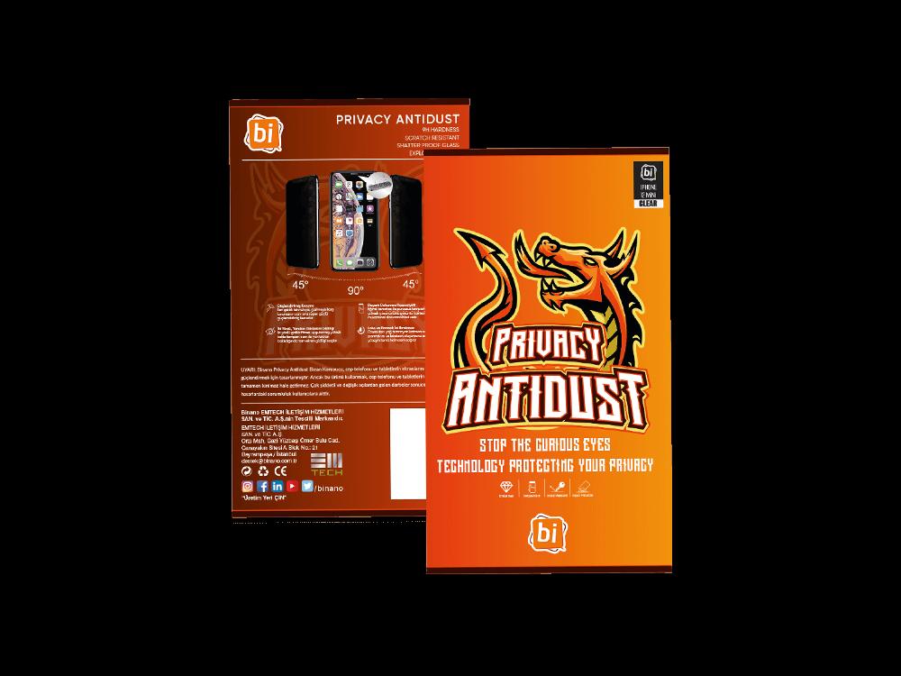 Binano Privacy Antidust iPhone 12/12 Pro Ekran Koruyucu