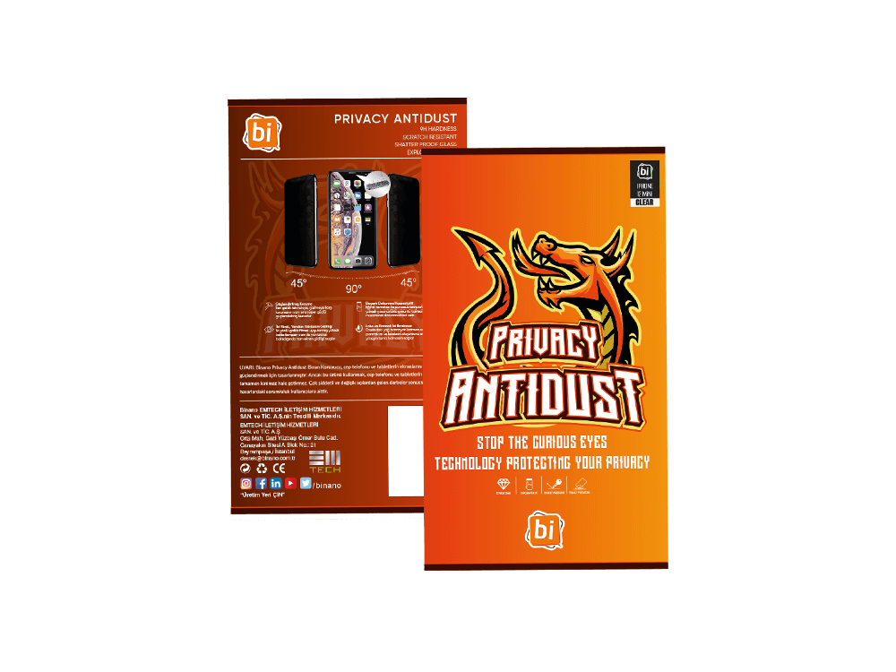 Binano Privacy Antidust Matte iPhone 12/12 Pro Ekran Koruyucu