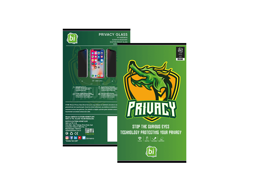 Binano Privacy Oppo A31 Ekran Koruyucu