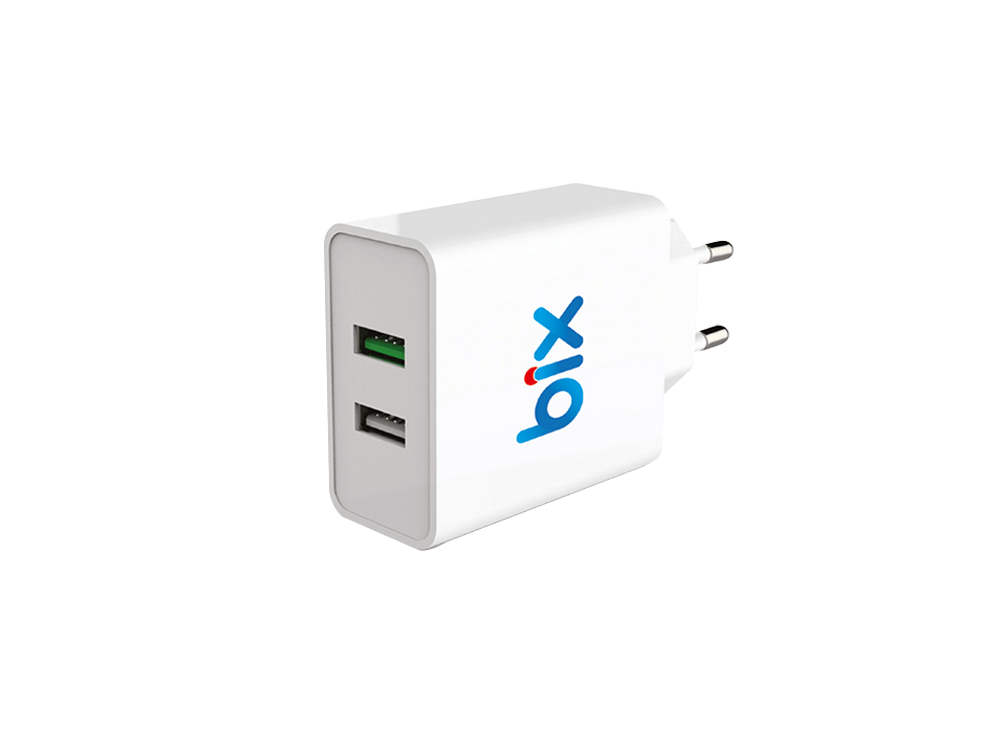 Bix BX-2U02Q Qualcomm 3.0 Çift Çıkışlı Şarj Adaptörü