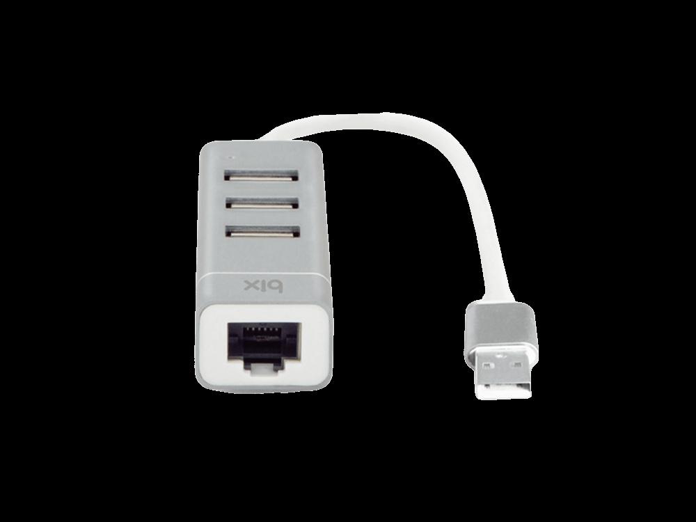 Bix BX03HB USB 2.0 3 Port HUB Hızlı İnternet LAN Adaptörü