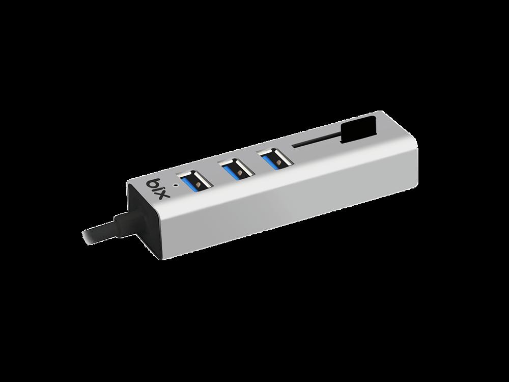 Bix BX04HB 3 USB 3.0 ve Kart Okuyuculu Multiport Çoklayıcı