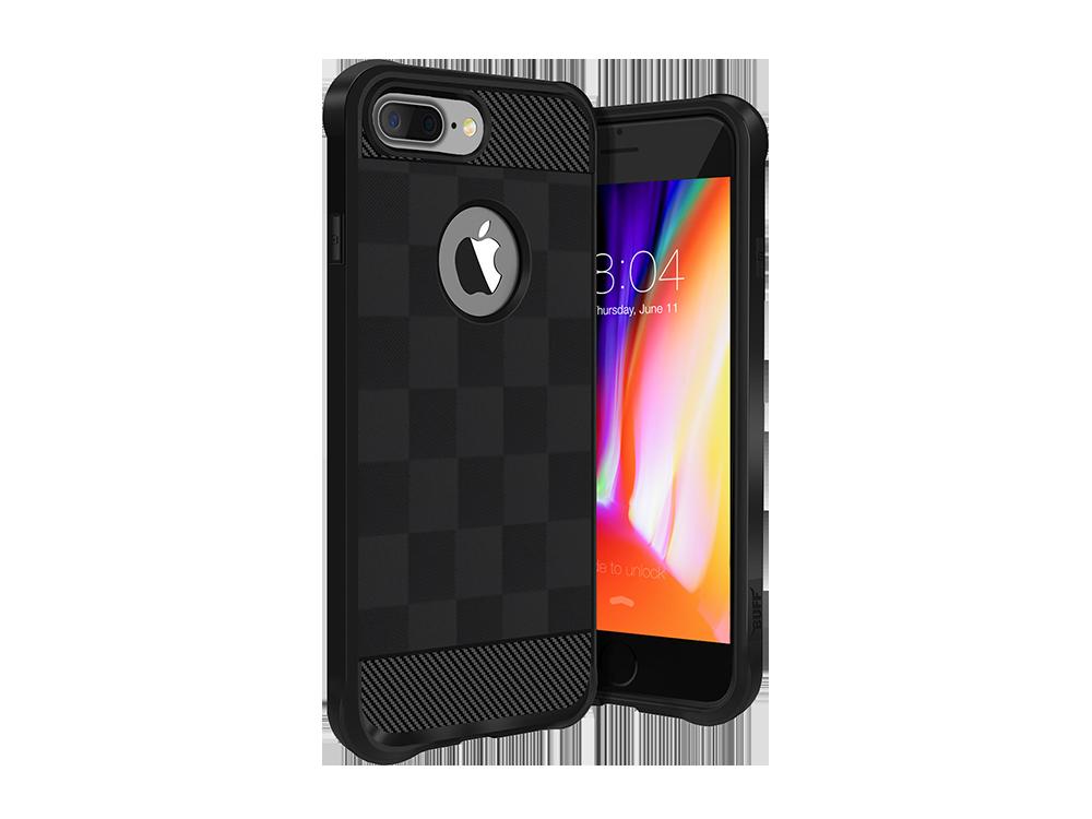 Buff iPhone 8 Plus Black Armor Koruyucu Kılıf