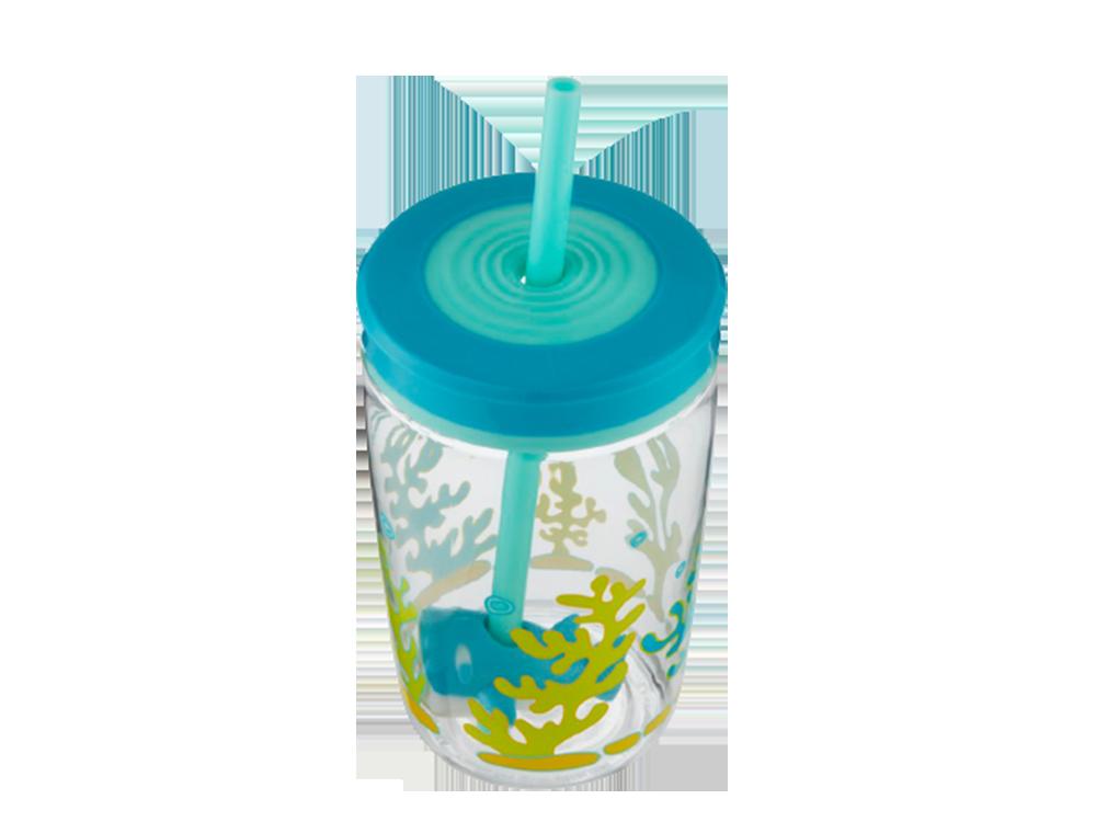 Contigo Floating Straw Shark Su Bardağı 0.42 L