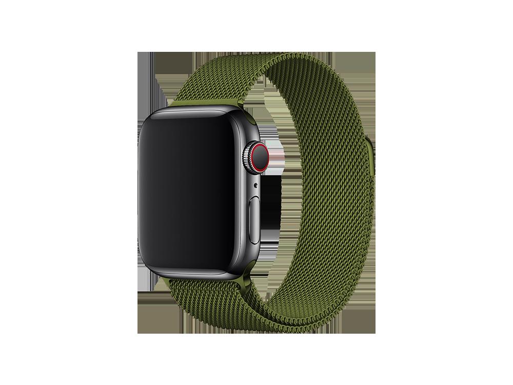 E2M Apple Watch 38-40 mm KRD-01 Metal Hasır Kordon-3