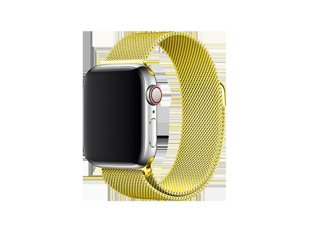 E2M Apple Watch 42-44 mm KRD-01 Metal Hasır Kordon-3