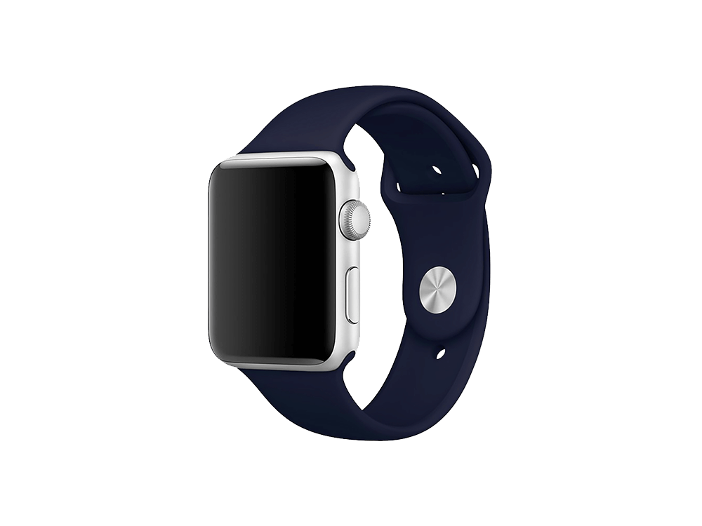 E2M Classic Apple Watch Silikon Kordon 42-44 mm - 1