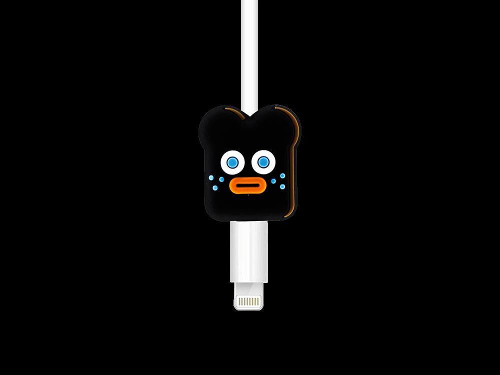 E2M Siyah Bisküvi Silikon Kablo Koruyucu