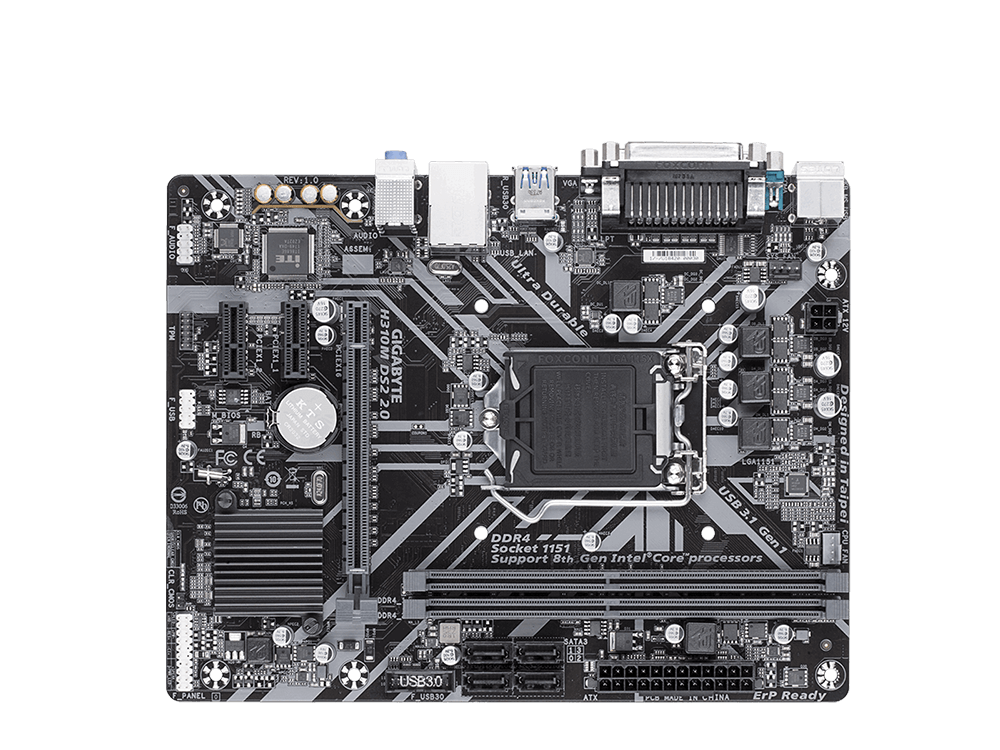 Gigabyte H310M-DS2 2.0 Intel 1151Pin 2666Mhz DDR4 Anakart