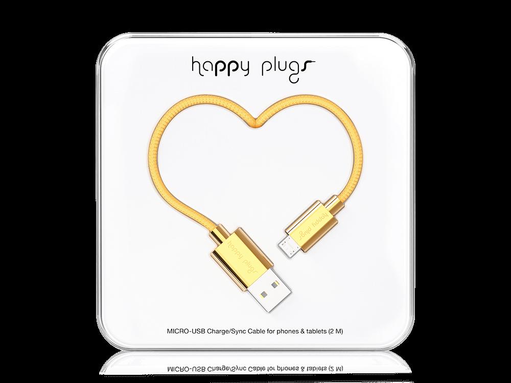 Happy Plugs Deluxe Micro USB Data ve Şarj Kablosu