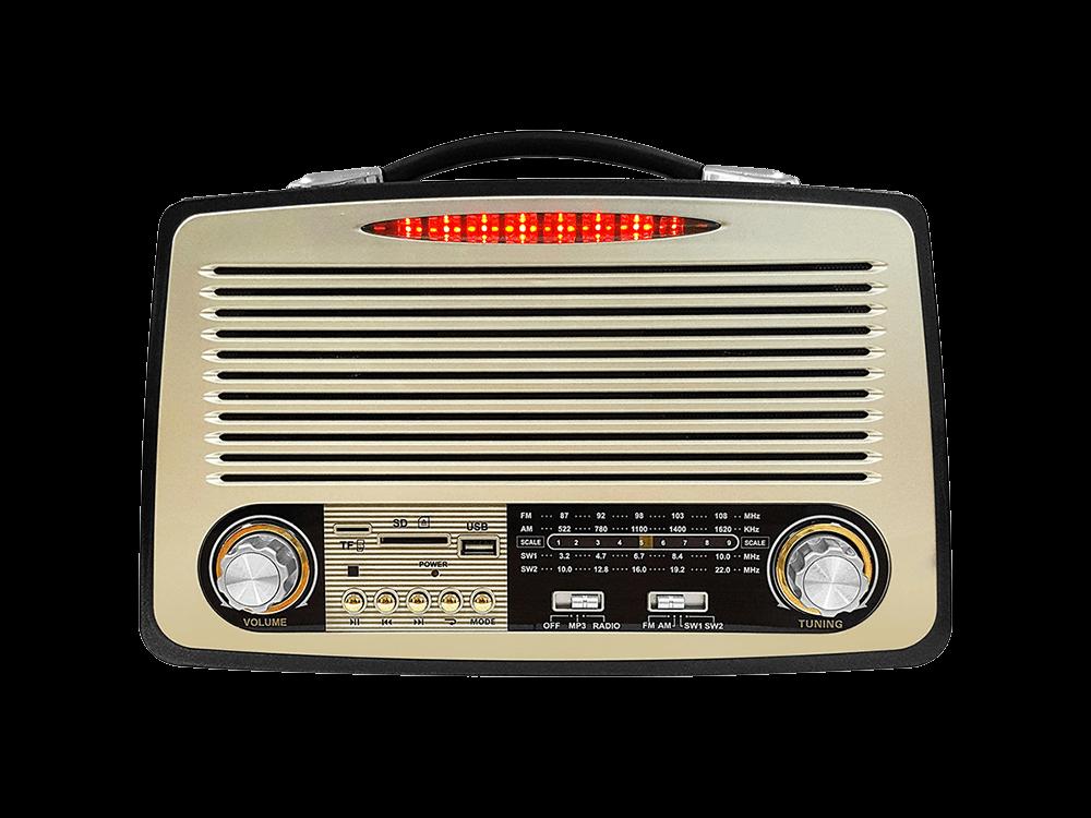 Hometech HT200 BT Nostaljik Radyolu Kablosuz Hoparlör