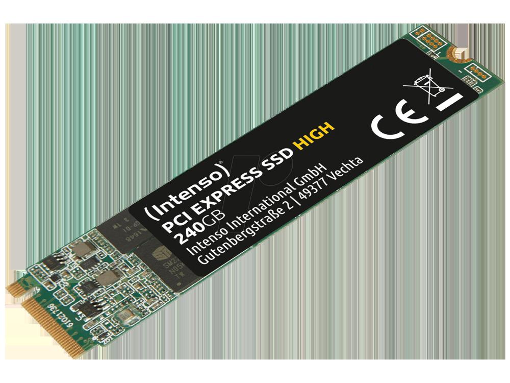 Intenso Hıgh 240GB 1700/800MB/S 4mm Nvme Pcıe M.2 SSD 3834440 3d-Nand