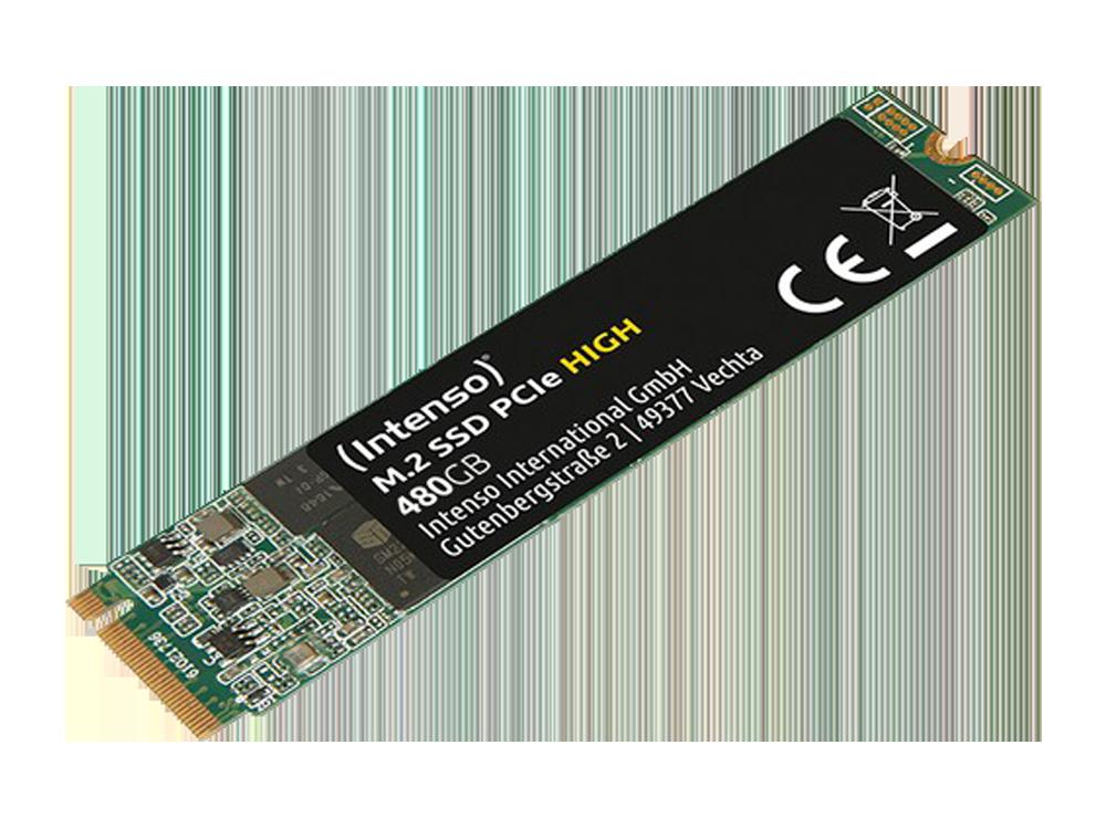 Intenso High 480GB 1700/800MB/S 4mm Nvme Pcıe M.2 SSD 3834450 3d-Nand