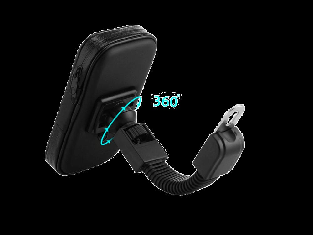 JUO Bisiklet/Motosiklet Ayna Tipi Suya Dayanıklı Telefon Tutucu (Medium)